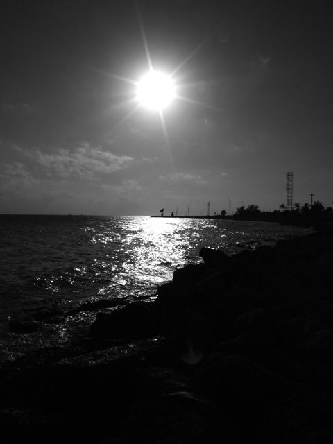 sunset at the southernmost point of the U.S. at Key West